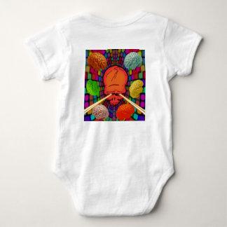 Skull Psychedelic Baby Bodysuit