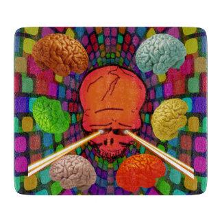 Skull Psychedelic Cutting Board