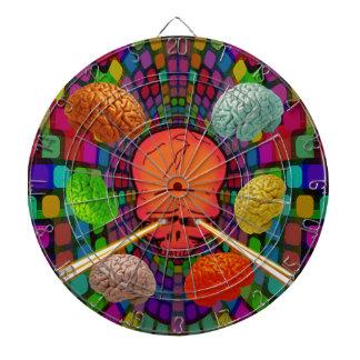 Skull Psychedelic Dartboards