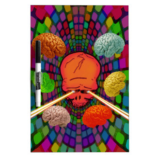 Skull Psychedelic Dry Erase Board