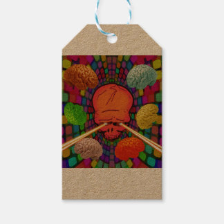 Skull Psychedelic Gift Tags
