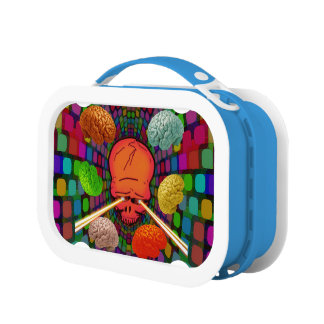 Skull Psychedelic Lunch Box