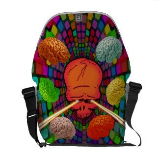Skull Psychedelic Messenger Bag