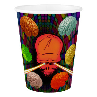 Skull Psychedelic Paper Cup