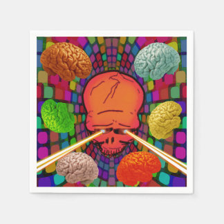 Skull Psychedelic Paper Napkin