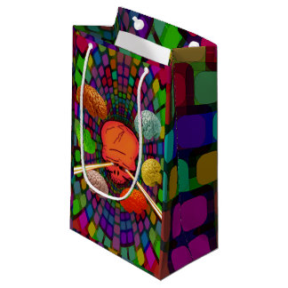 Skull Psychedelic Small Gift Bag