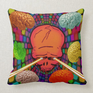 Skull Psychedelic Throw Pillow