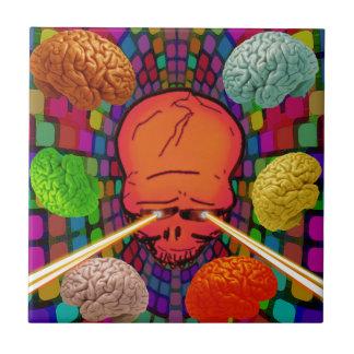 Skull Psychedelic Tile