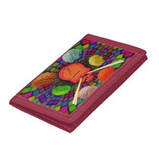 Skull Psychedelic Tri-fold Wallet