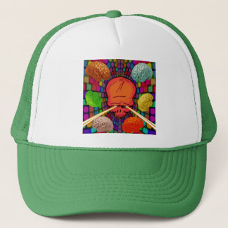 Skull Psychedelic Trucker Hat