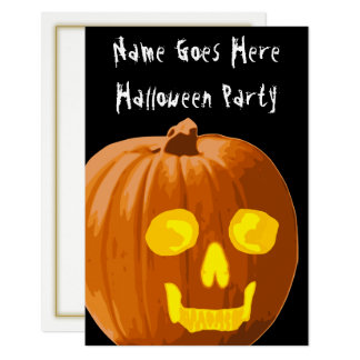 Skull Pumpkin Halloween Party Invitation