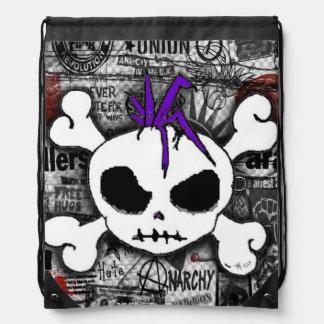 Skull Punk Drawstring Bag