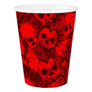 skull punk paper cup
