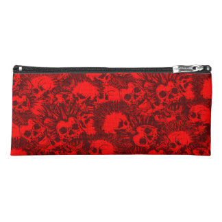 skull punk pencil case