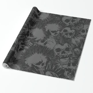 skull punk wrapping paper