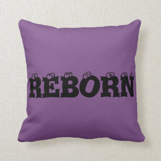 Skull purple pillow - Reborn - Skull tattoo