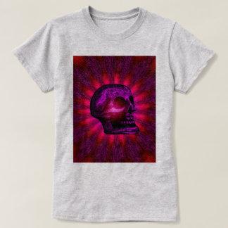 SKULL - Purple Red Rays Tee Shirts