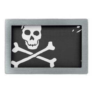 Skull Rectangular Belt Buckle