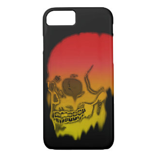 Skull red and yellow melting colors! iPhone 8/7 case