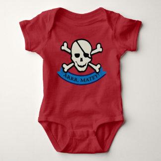 Skull - Red Baby Jersey Bodysuit