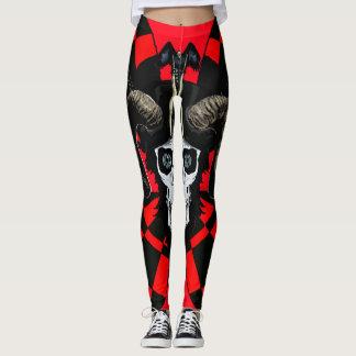 Skull red customize leggings
