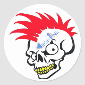 Skull red sticker