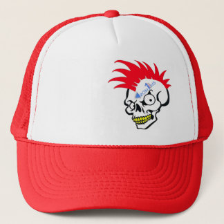 Skull red trucker hat