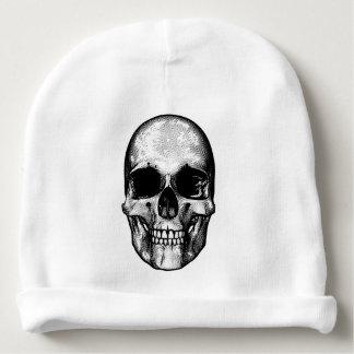 Skull Retro Style Drawing Baby Beanie