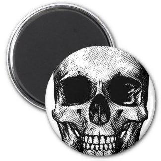 Skull Retro Style Drawing Magnet