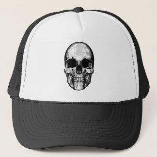 Skull Retro Style Drawing Trucker Hat