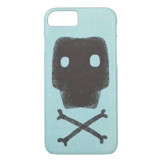 Skull Retro Turquoise Green iPhone 8/7 Case