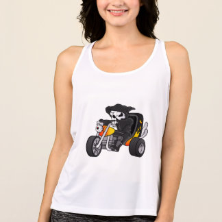 skull ride a big tricycle tank top