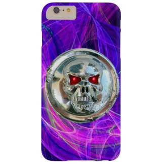 SKULL RIDERS Pink Blue Purple Fractal Swirls Barely There iPhone 6 Plus Case