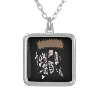 Skull Ripping Square Pendant Necklace
