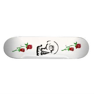 skull rose board skate boards