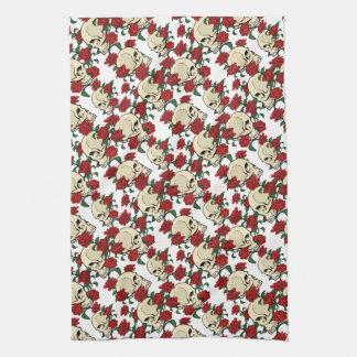Skull & Roses Hand Towels