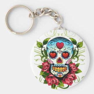Skull Roses Keychain
