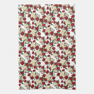 Skull & Roses Kitchen Towel
