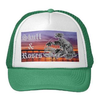 Skull & Roses Sunset Baseball Hat - Customized