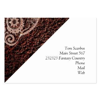 Skull rusty metal 04 business card templates