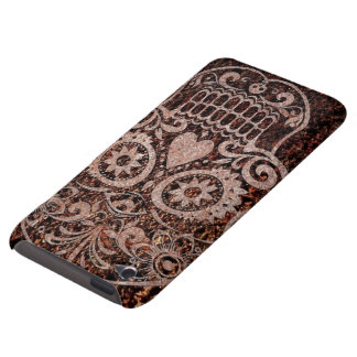 Skull rusty metal 04 barely there iPod covers