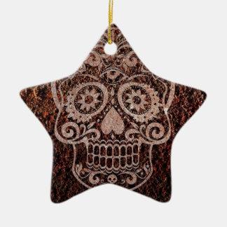 Skull rusty metal 04 ornament