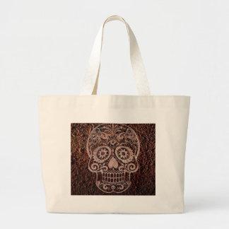 Skull rusty metal 04 tote bags