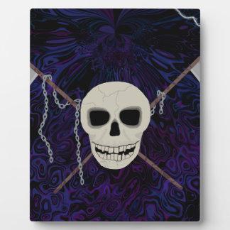 Skull & Scythes Plaque