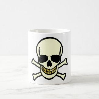 Skull & Shades Basic White Mug
