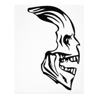 skull sideway letterhead