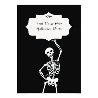 Skull & Skeleton Halloween Card