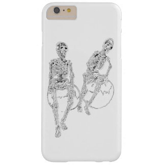 Skull Skeletons Laughing Funny iPhone Fun Gifts Barely There iPhone 6 Plus Case