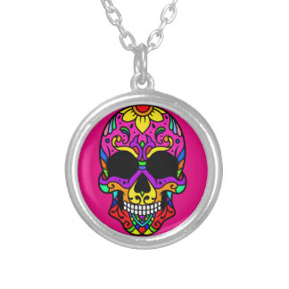 Skull Skull Silver Plated Necklace