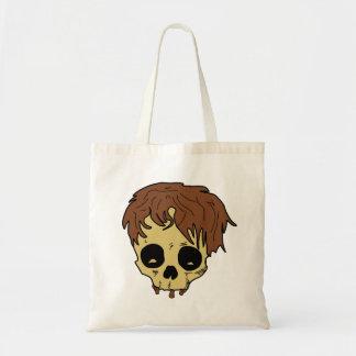 Skull. Skull with hair. Canvas Bags